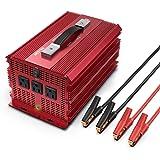 BESTEK 2000W Power Inverter 3 AC Outlets DC 12V to 110V AC Car Power Converter for Camping Outdoor Power Supply ETL…