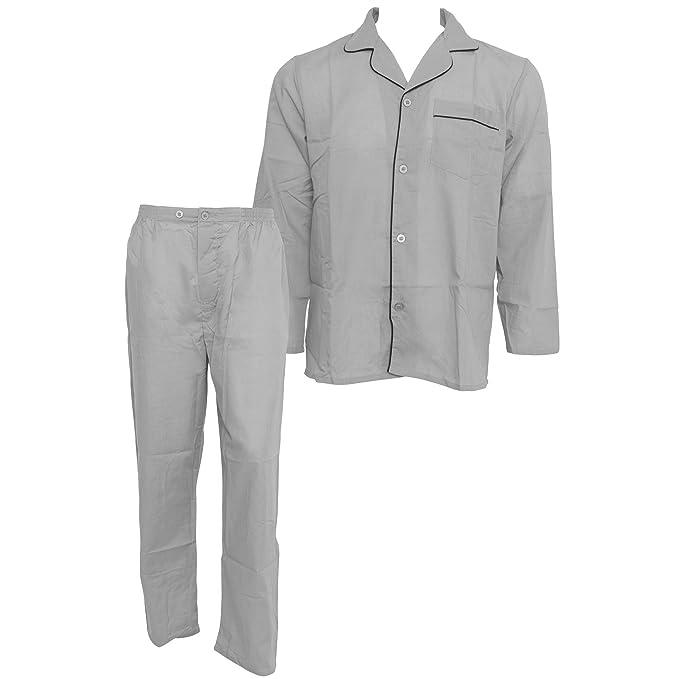 Conjunto de Pijama de Tela Woven Parte Superior de Manga Larga y con Botones Pantalones Largos