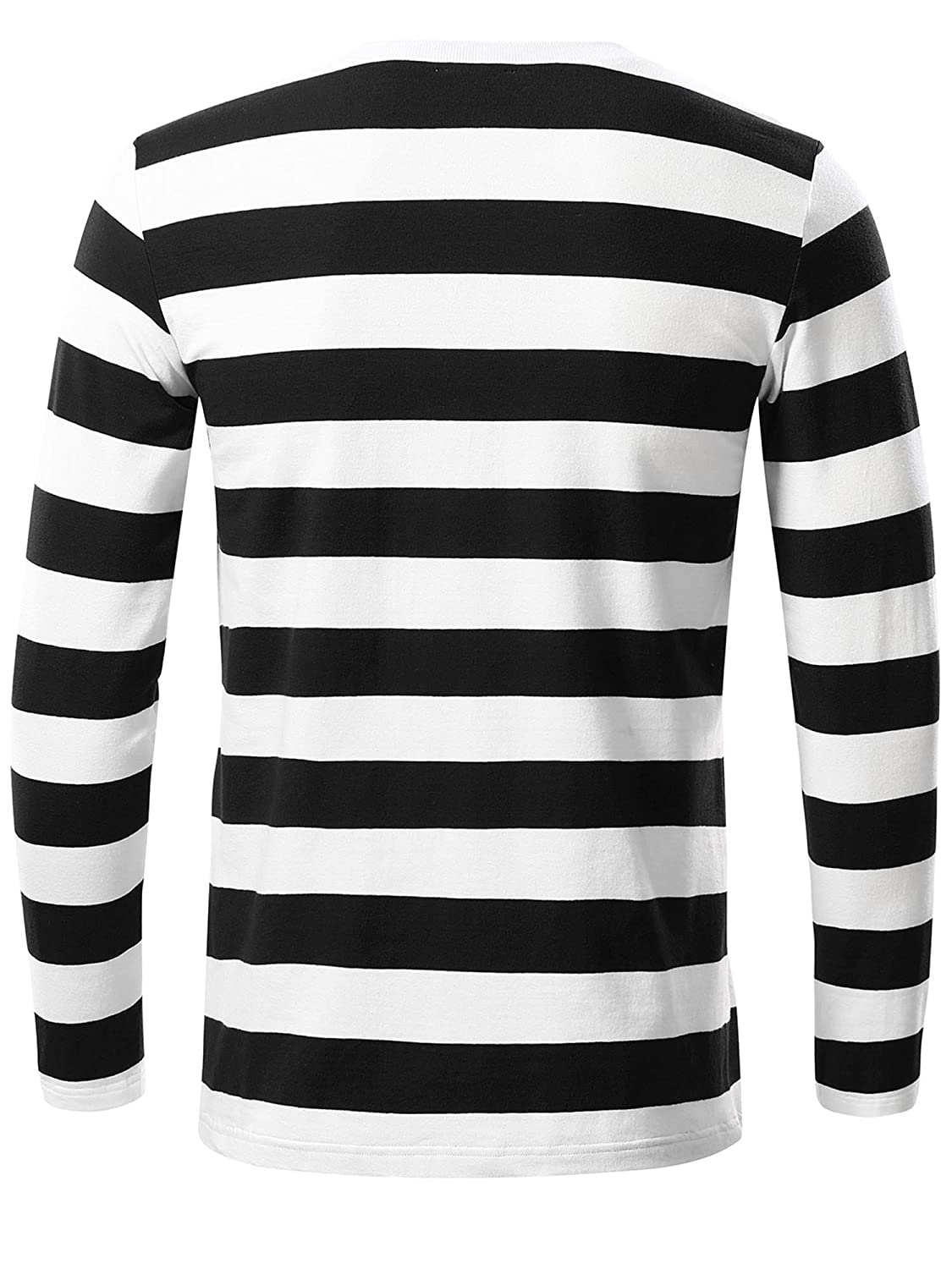 Amazon Kira Mens Basic Striped Long Sleeve Casual Cotton T