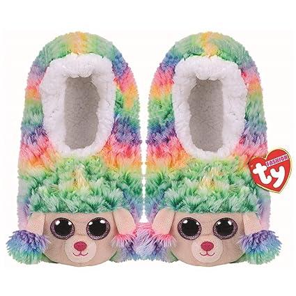 1680ec0d910 Amazon.com  Ty Rainbow - slipper socks medium Ty Rainbow - slipper ...