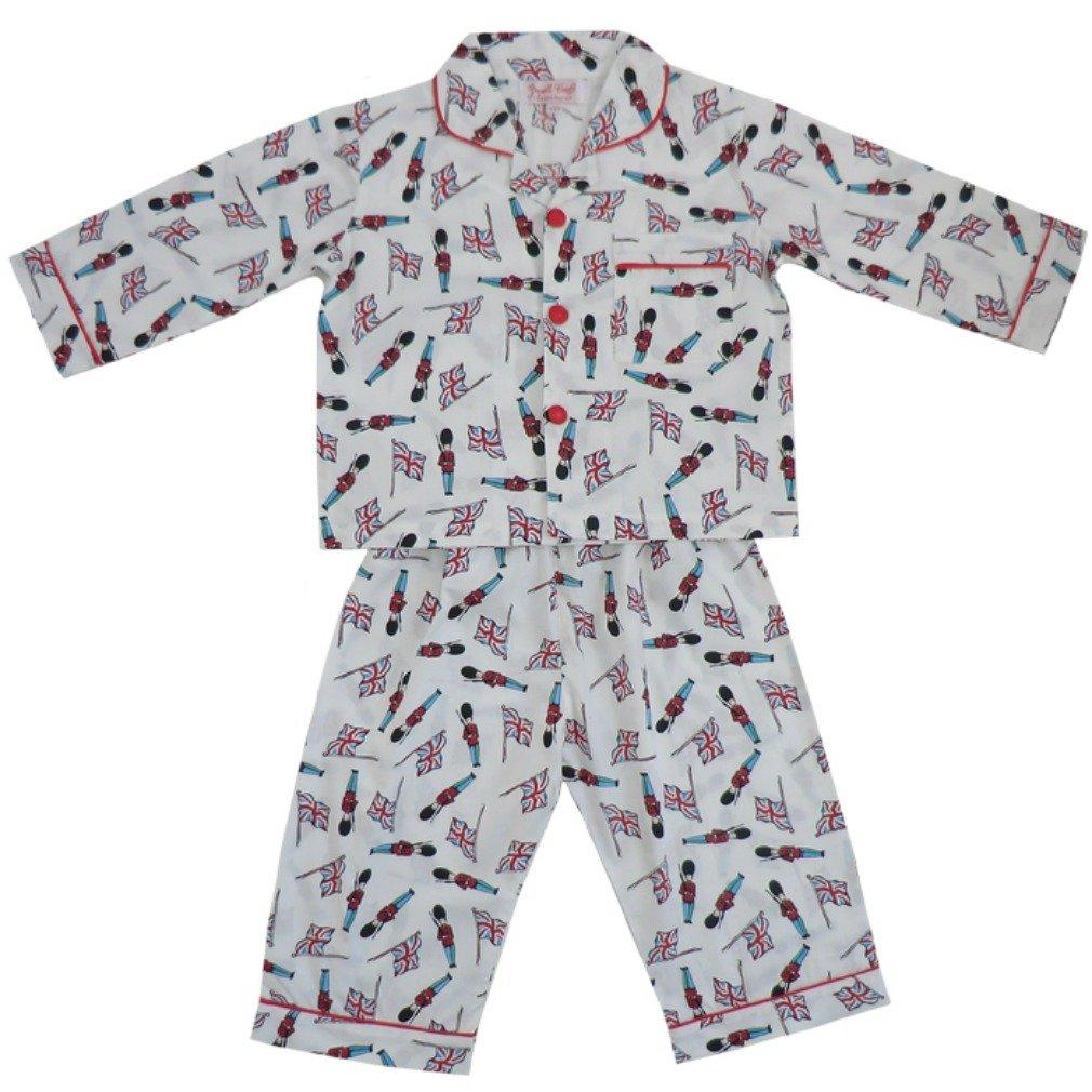 1-9 Years.White Powell Craft Big Boys Cotton Soldier Pajamas