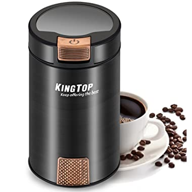 Coffee Grinder Electric 200W KINGTOP Fresh-Grind Coffee Bean Grinder with Stainless Steel Blade for Bean Seed Nut Spice Herb Pepper [2 Years Warranty]