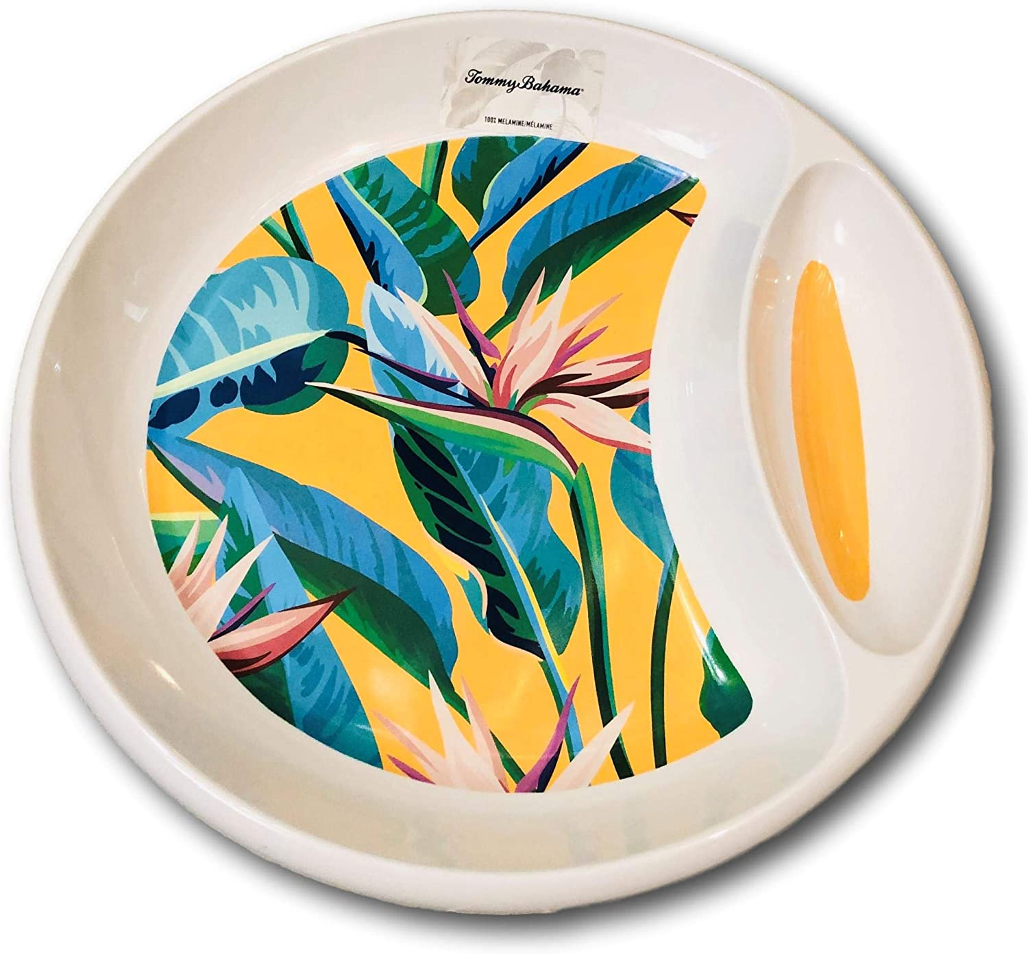 Tommy Bahama Tropical Palm Leaves Bird Of Paradise Flowers Melamine Set Of 6 Melamine Platters Kitchen Dining Bar Supplies