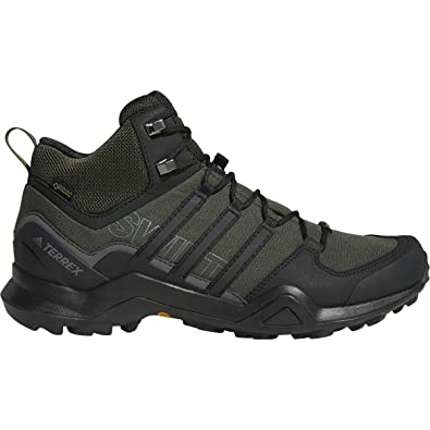 7dc5fe5b59346 Image Unavailable. Image not available for. Color  adidas outdoor Men s  Terrex Swift R2 Mid GTX¿ Night Carbon Black Base Green