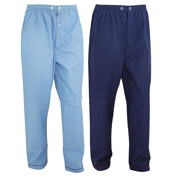 Pantalones de pijama largos para hombre caballero (Paquete de 2 ...