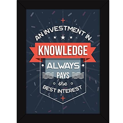 office inspirational posters. Framed Quotes For Room And Office Decor - Inspiring Motivational Posters Investment In Knowledge Inspirational