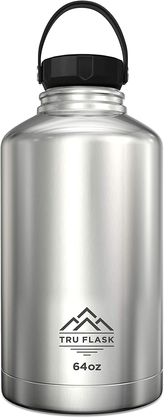 Drinkware 64 Oz Double Wall Vacuum Sealed Stainless Steel Water Bottle White