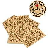 (Dia. 3.8cm) 300 pz Adesivi Etichette Adesive Rotonde Personalizzate Thank You Grazie Handmade Fatti a Mano Sticker Tag per Bomboniere Cottura (25 fogli)