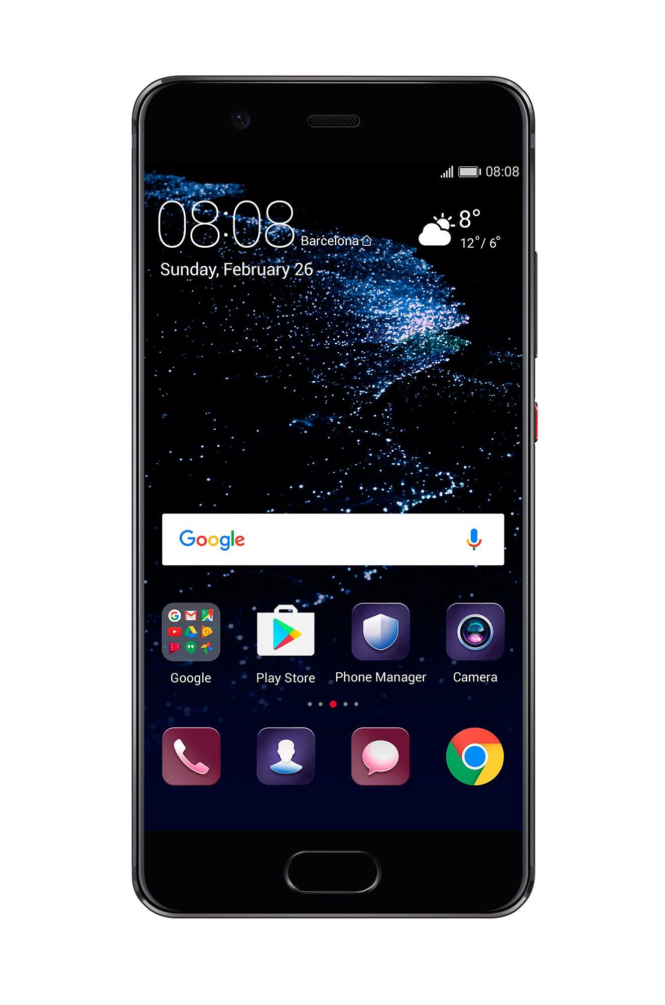 Huawei P10 VTR-L29 64GB Graphite Black, 5.1'', Dual Sim, GSM Unlocked International Model, No Warranty