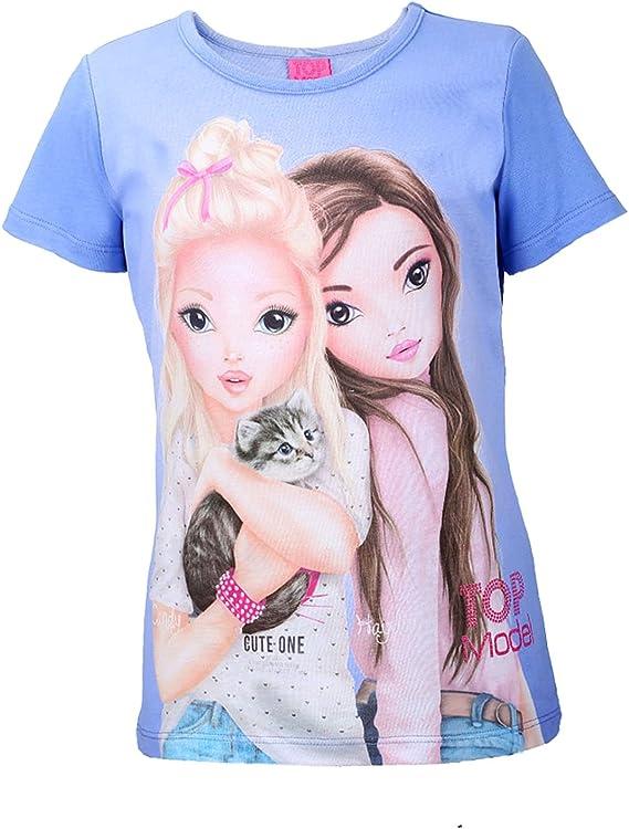 Top Model M/ädchen T-Shirt blau