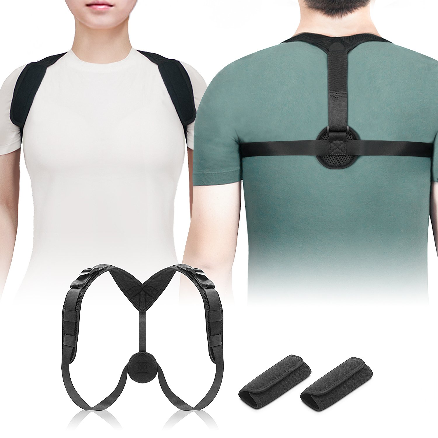 Ostekin Posture Corrector for Men Women [Upgraded], Adjustable Posture Support Brace | Clavicle Support Brace for Hunchback & Slouching, Comfortable & Breathable