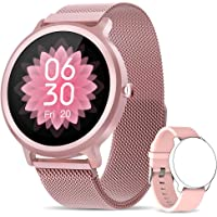 NAIXUES Smartwatch Mujer, Reloj Inteligente IP68 con 24 Modos de Deporte, Pulsómetro,…