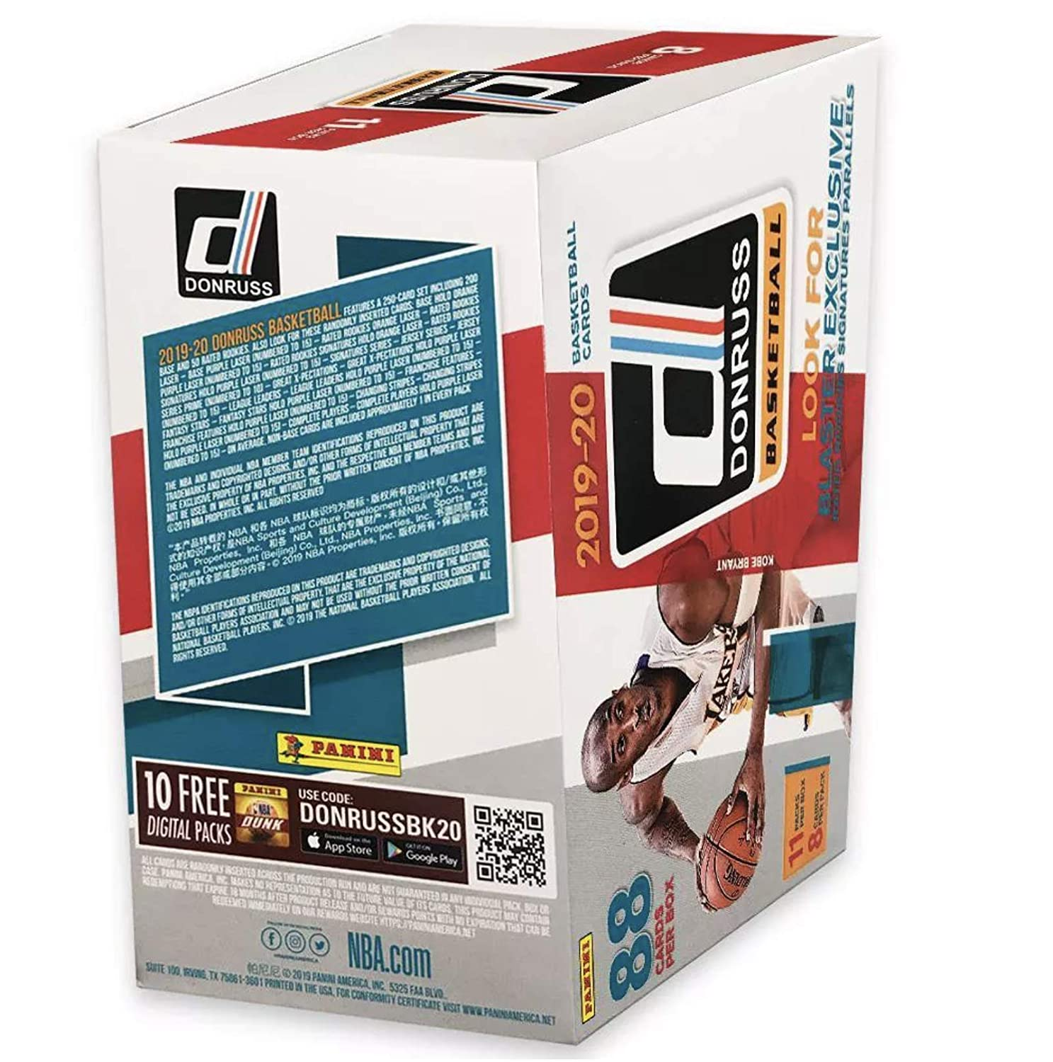 2019-20 Panini NBA Donruss Basketball Blaster Box 88 Total Cards 1 Autograph or Memorabilia Card per Box by Panini
