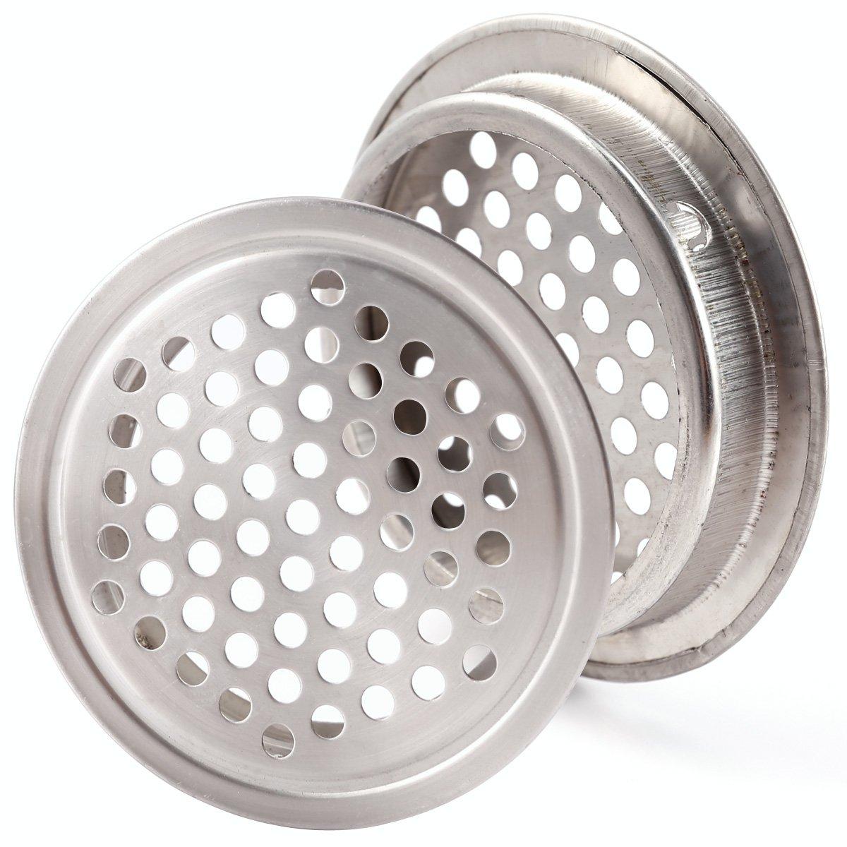 Anladia 20x Grilles de Ventilation Circulaire a/ération air pour Meubles Chaussures Armoire Placard Couverture Conduite