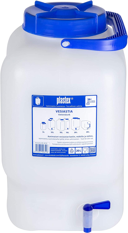 Zapfhahn gro/ße /Öffnung Plastex Wasserkanister 20L lebensmittelecht