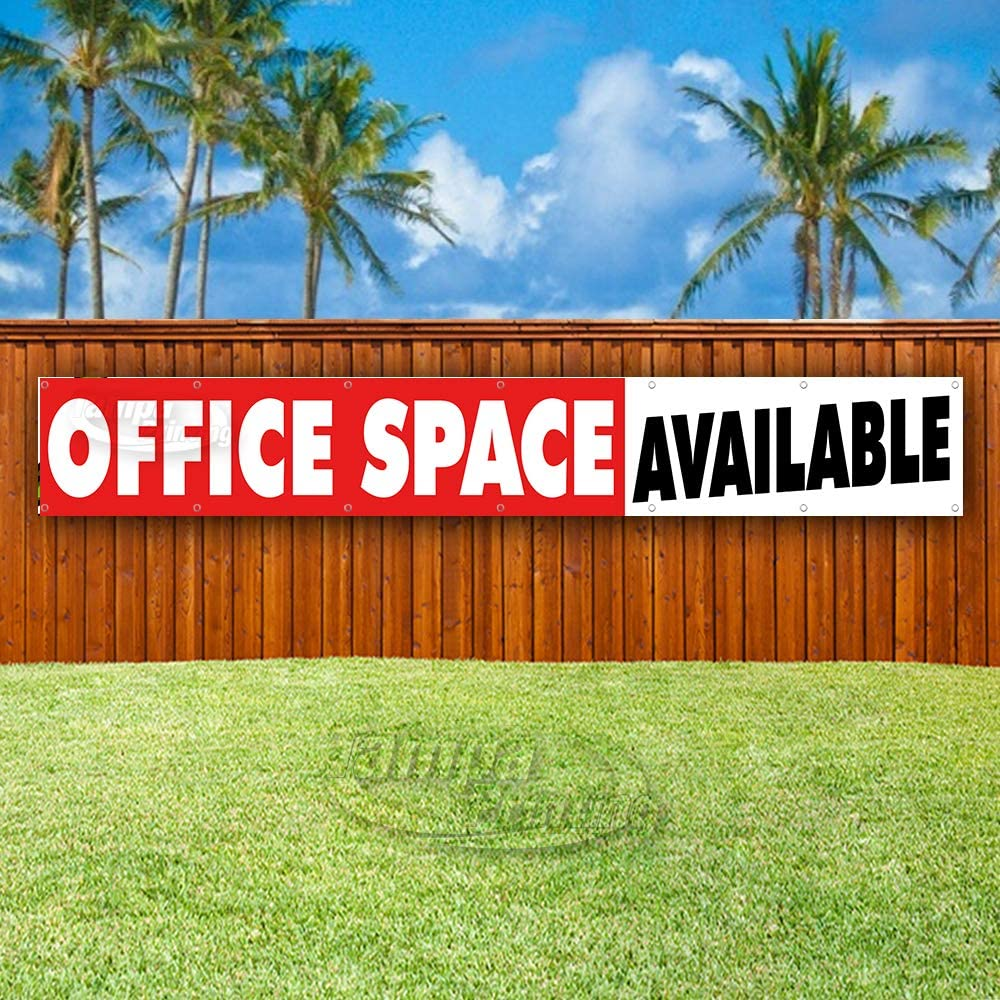 Store New Office Space Available Extra Large 13 oz Heavy Duty Vinyl Banner Sign with Metal Grommets Many Sizes Available Flag, Advertising