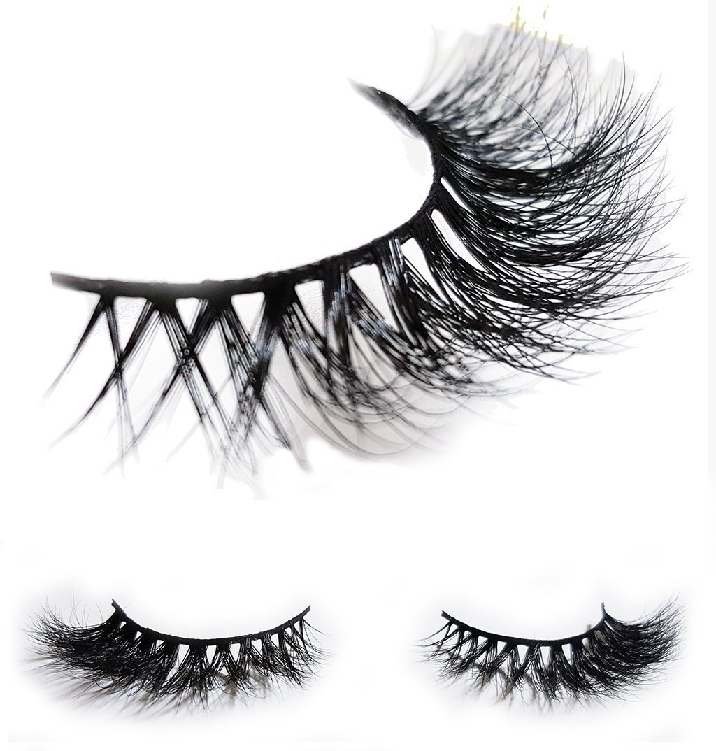 LUXILASH KYLIE Amazing Double Layered 3D Mink Fake Eyelashes - Reusable Luxury Strip Natural False Eyelash Extensions