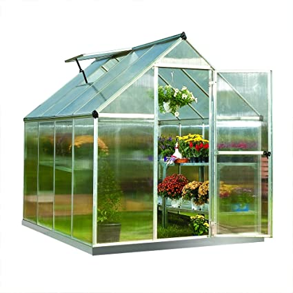 Palram Nature Series Mythos Hobby Greenhouse - 6 x 8 x 7 Silver