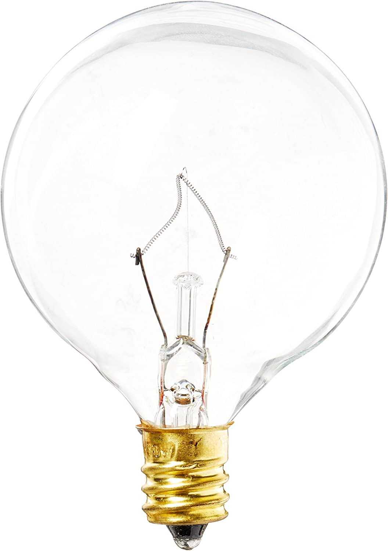 130 Volt Clear Incand G16.5 Light Bulb Westinghouse 0361200 2500 Hour 340 Lumen Westinghouse Lighting 40 Watt