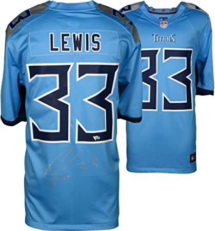 Dion Lewis Tennessee Titans Autographed Nike Light Blue Game