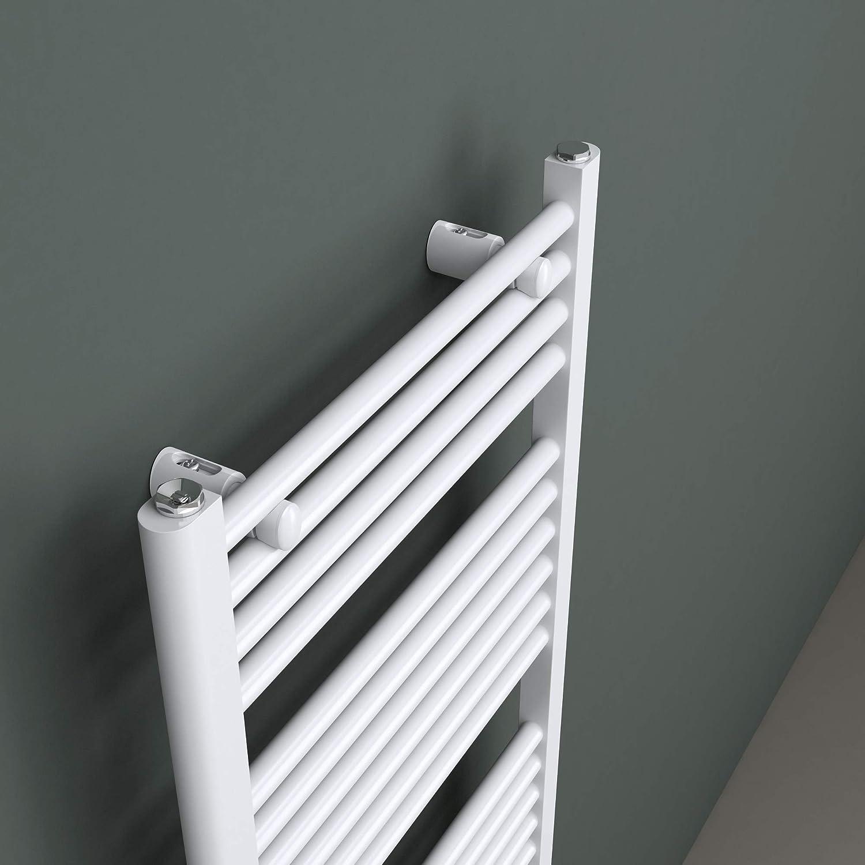Portasciugamani Elettrico Termoarredo Bagno Riscaldamento da Acqua Calda in Acciaio Bianco Mai /& Mai Radiatore Scaldasalviette Elettrico100x50cm