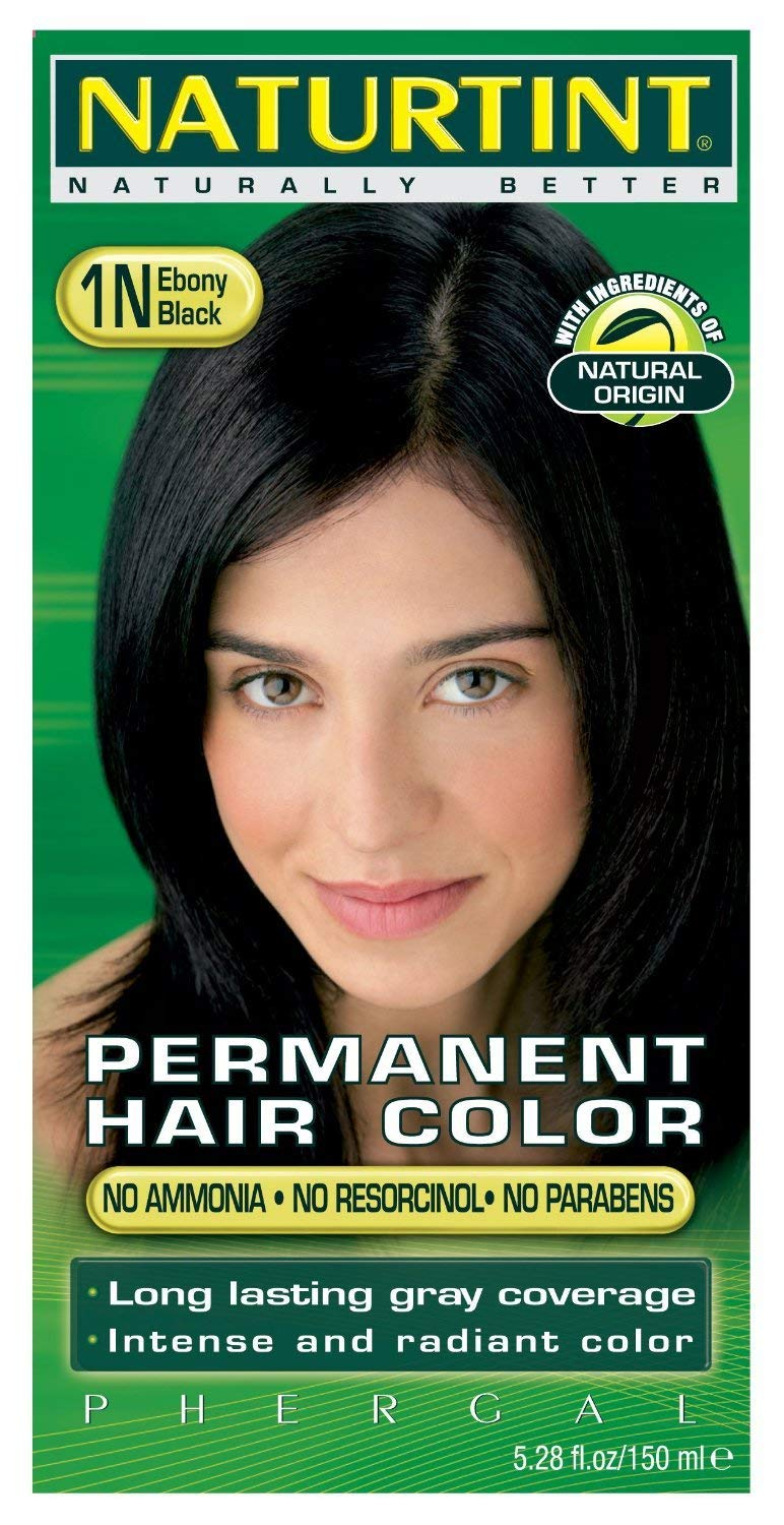 Naturtint Hair Color Pack of 6 with Free Nutrideep Protective Cream - 1N Ebony Black by Naturtint