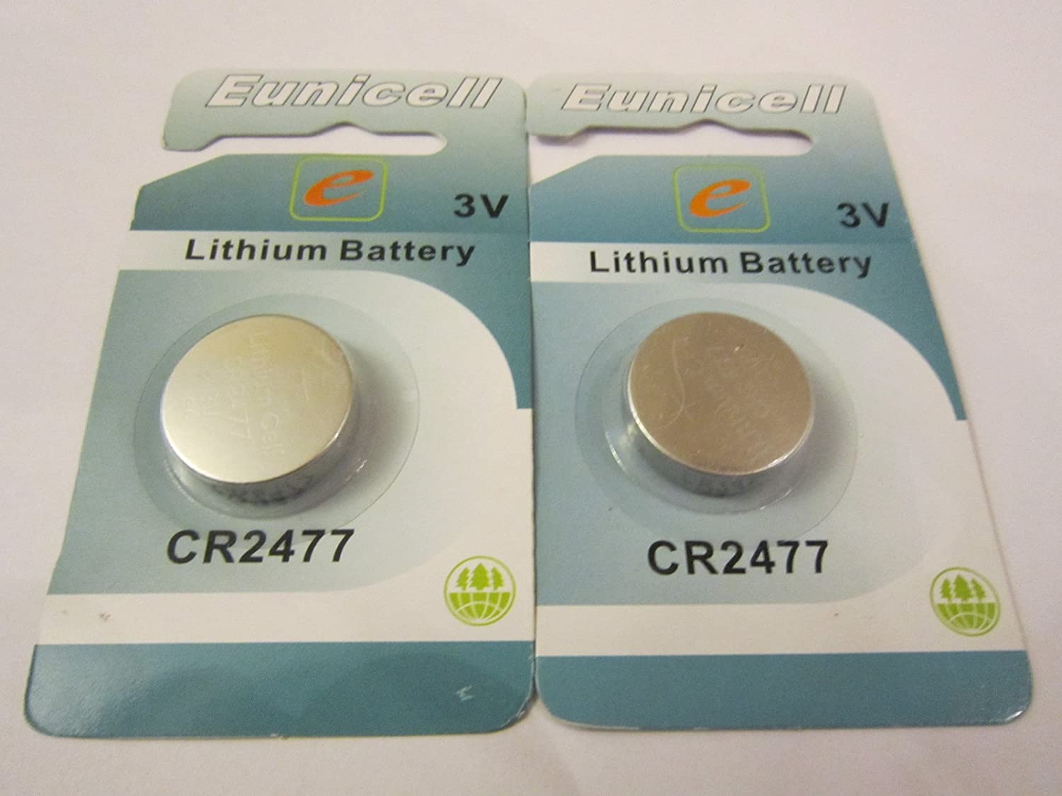 2x CR2477/BR2477/DL2477/ECR2477/KCR2477 3V Eunicell Lithium Battery Batteries CR2477 / BR2477 / DL2477
