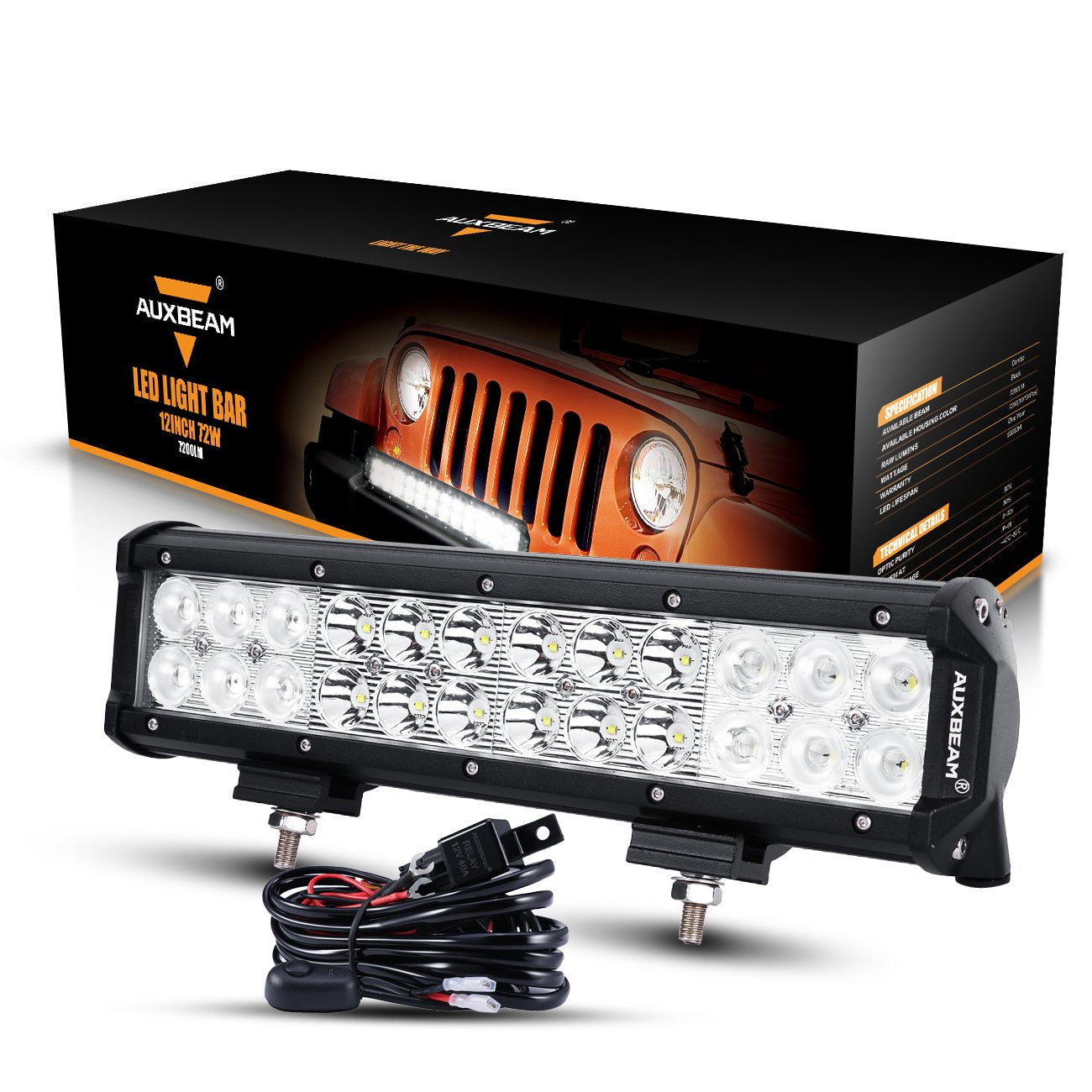 Auxbeam 12 Inch LED Light Bar