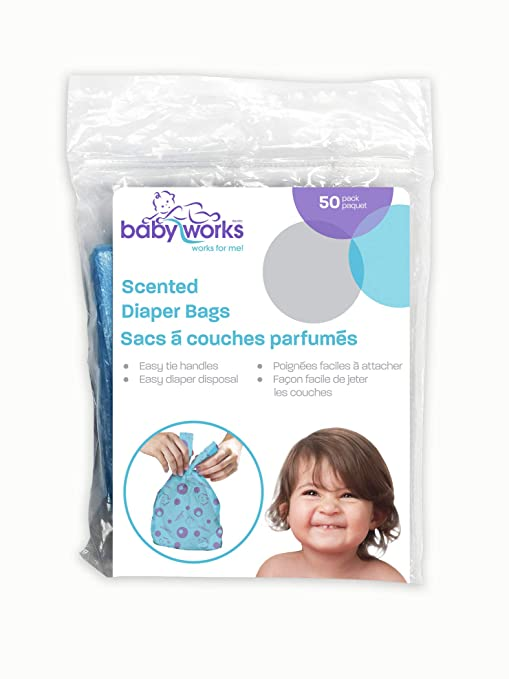 Amazon.com: Baby Works 50 pieza desechable perfumado pañal ...
