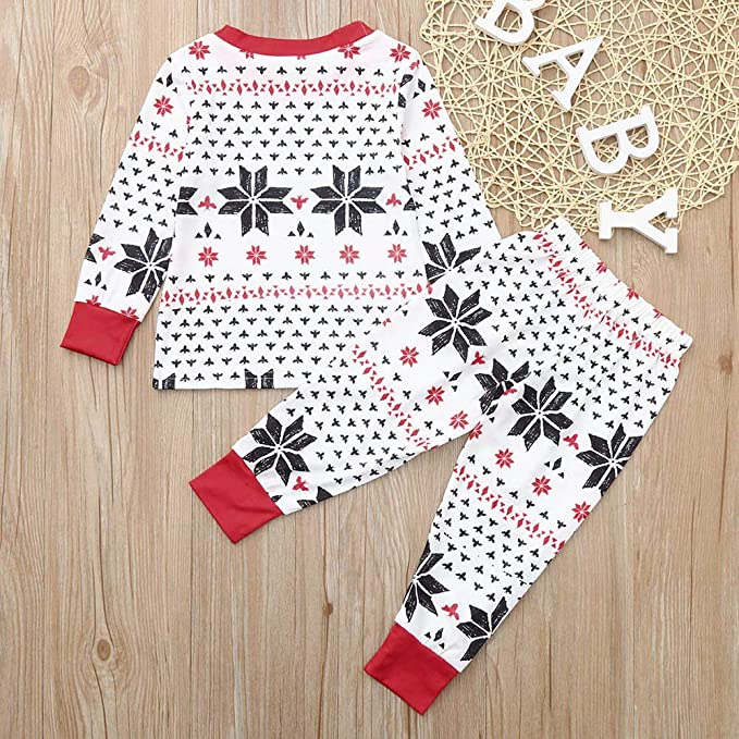 Conjunto de Pijamas de Navidad Familiar Ropa De Dormir Rayas ...