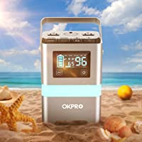 Okpro Solar Generator Portable Power Station With 110V/200W AC Outlet (Silver)