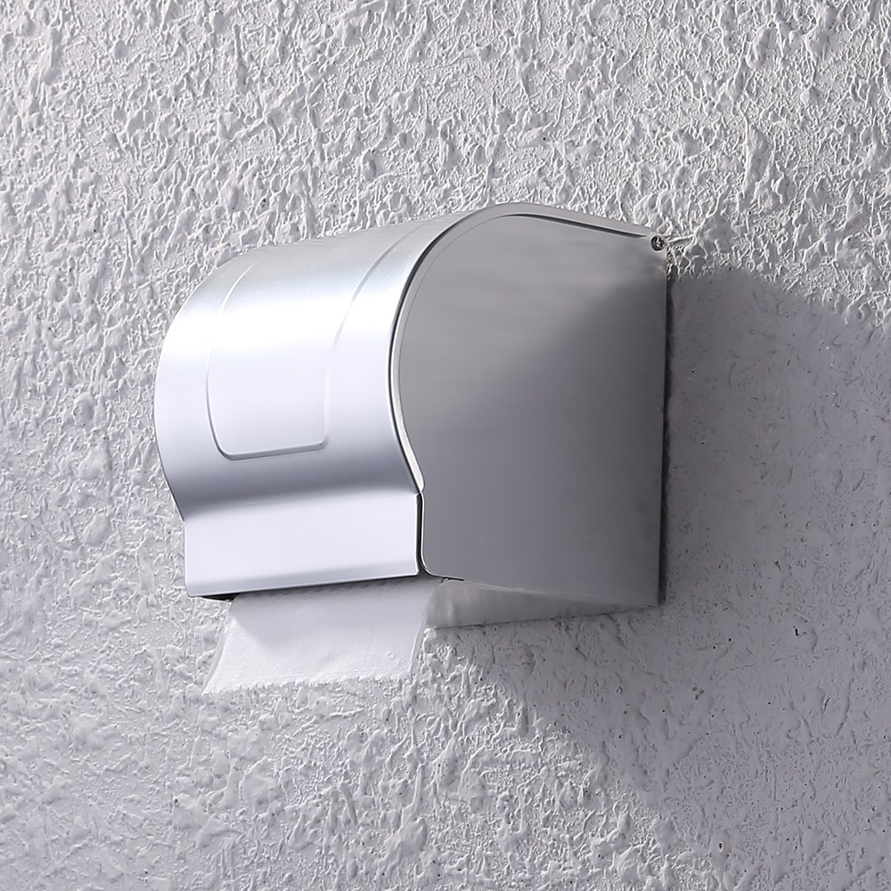 KES A4072 Bathroom Lavatory Wall Mount Toilet Paper Holder, Aluminum