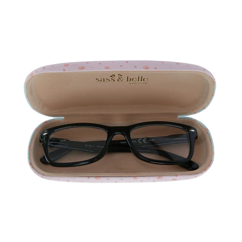 Sass /& Belle Luna Caticorn Custodia per occhiali