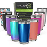 CHILLOUT LIFE 20 oz Stainless Steel Tumbler with Lid & Gift Box - Double Wall Vacuum Insulated Large Travel Coffee Mug…