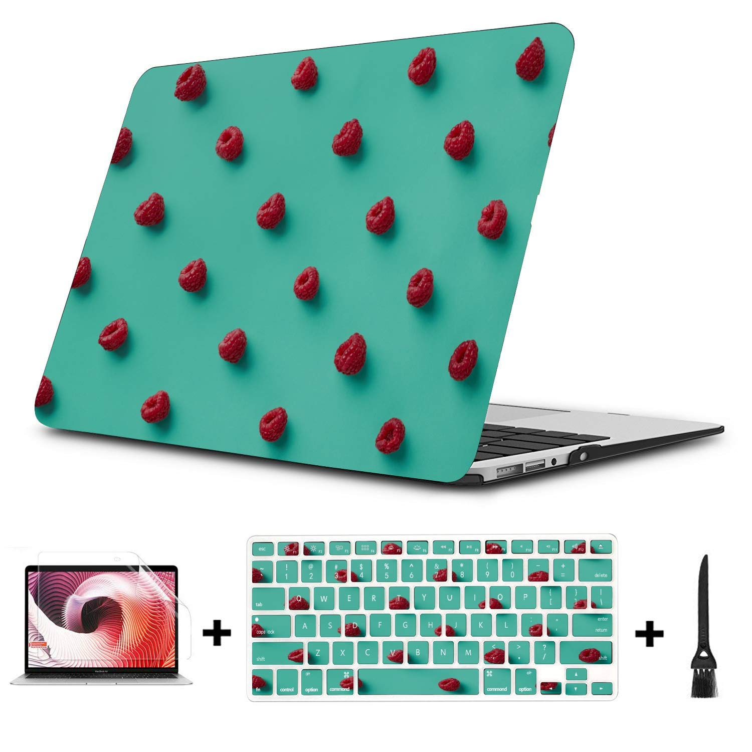 Case MacBook Pro 13 Summer Sweet Sour Create Berry Fruit Plastic Hard Shell Compatible Mac Air 11 Pro 13 15 13 MacBook Case Protection for MacBook 2016-2019 Version