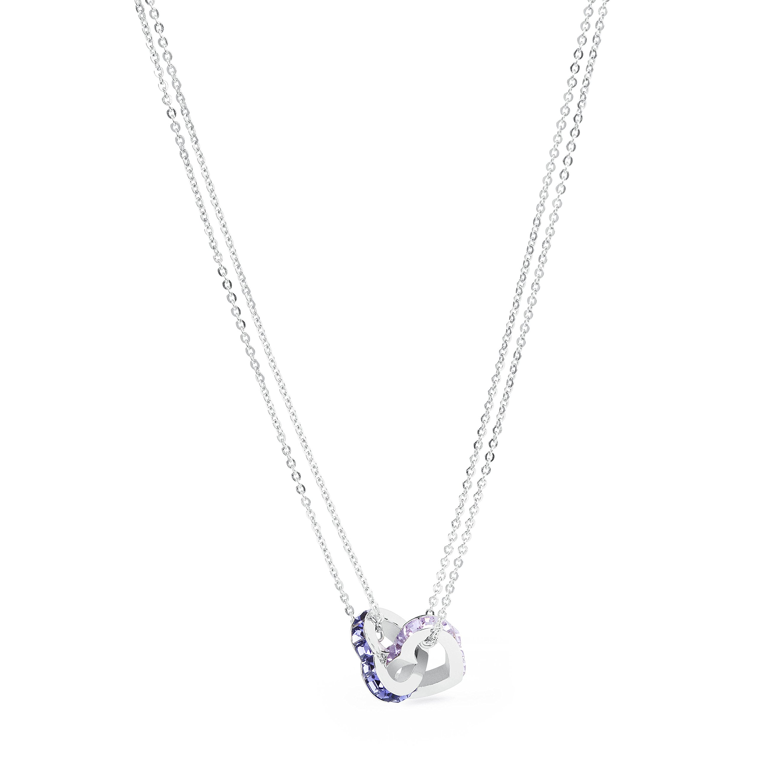 Brosway Romeo and Juliet Love Edition Necklace with Swarovski Crystals in Violet and Pink, 17.72''