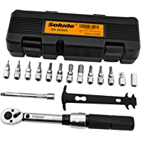 1/4 Inch Drive Click Torque Wrench Set,2-20 Nm Bicycle Maintenance Kit with Sockets,Extension Bar,Chain Checker(16 PCS)
