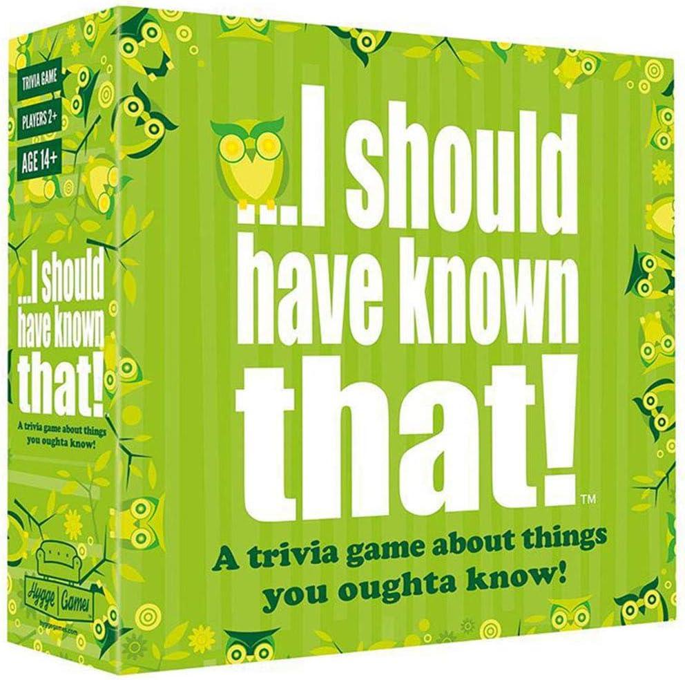 XXCC ¡Más allá del Juego, debería haberlo sabido! Trivia Game Card Toys Party Juegos de Mesa Party Family Gathering with 110 Card 440 Question: Amazon.es: Hogar