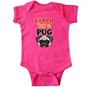 inktastic Pug Dog Lover Gift Infant Creeper Newborn Hot Pink