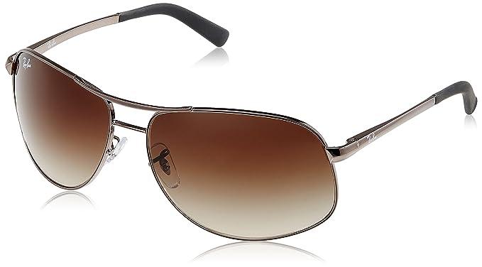 91fe54a5270 Ray-Ban Rectangular Sunglasses (Metallic) (RB3387