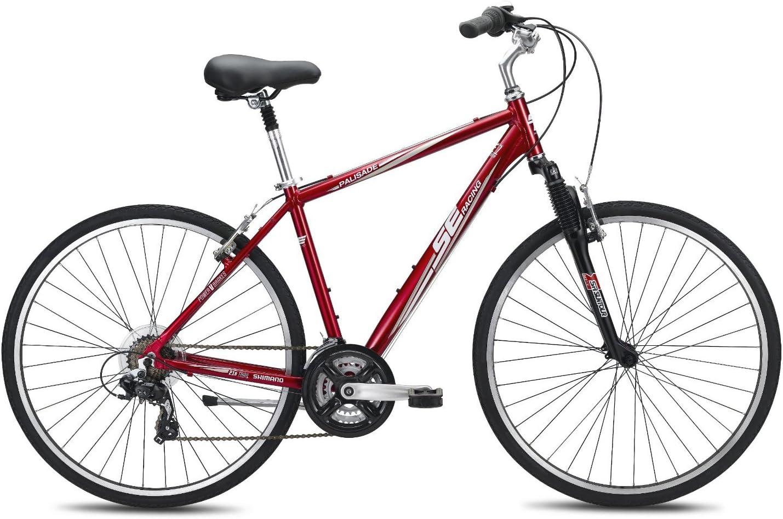 SE Bikes エスイーバイク Palisade 21スピード コンフォート バイク 19インチ レッド【並行輸入品】+NONOKUROオリジナルグッズ