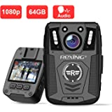 """Rexing P1 Body Worn Camera, 2"""" Display 1080p Full HD, 64G Memory,Record Video, Audio & Pictures,Infrared Night Vision…"""