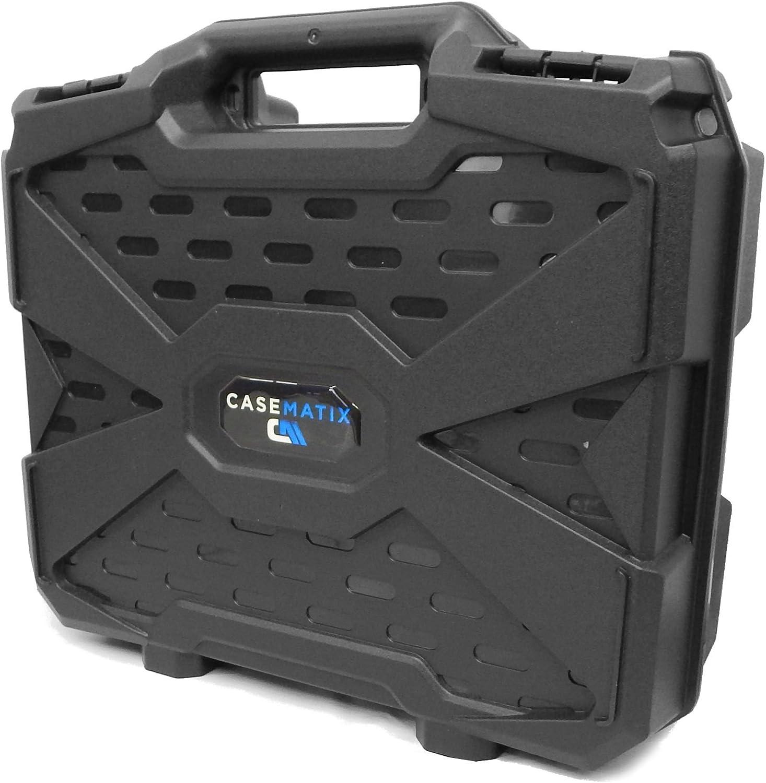 Casematix Home Video Projector Hard Case with Dense Foam Compatible with Epson VS240 , VS345 , VS340 , EX3260 , EX7260 , EX3240 , EX3220 , EX7240 , EX7235 , EX7230 3lcd, Xga, Svga and 3D Projectors
