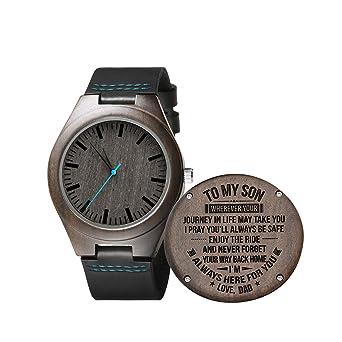 Relojes de Madera Grabados Personalizados Regalos para Hijo ...