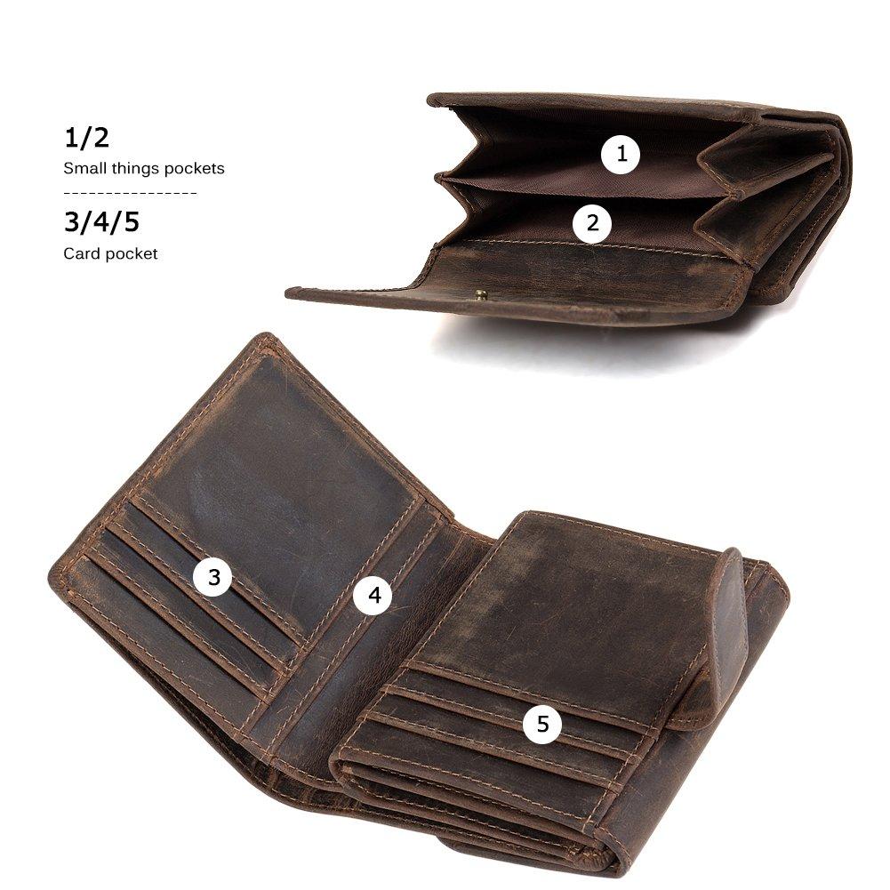 Amazon.com: WESTBRONCO - Cartera de billetera de piel para ...