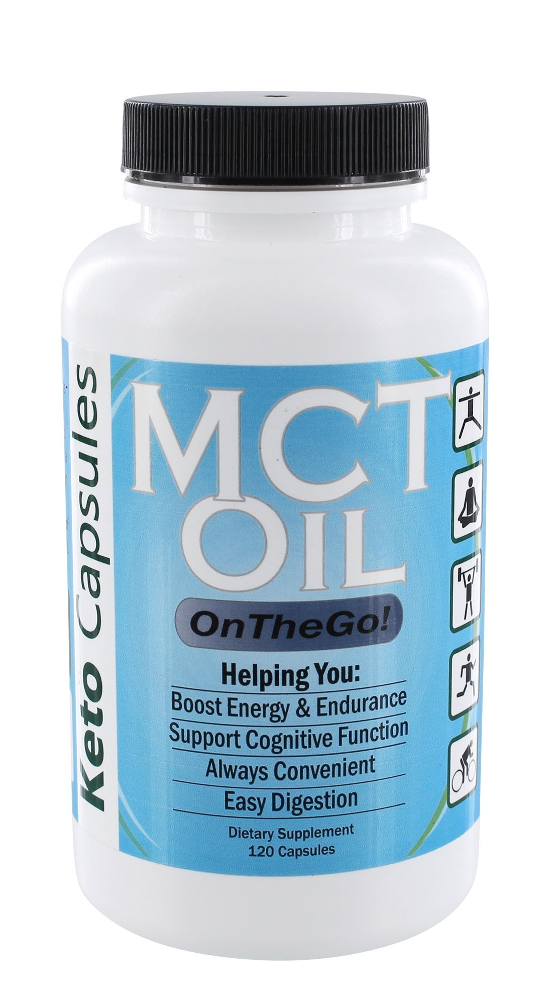 Keto Capsules: MCT Oil On The Go - 120 Capsules - Supports Natural Energy, Cognitive Function, Endurance, Aids Ketogenic Weight Loss & Easy Digestion - with Caprylic Acid