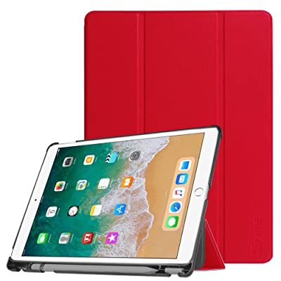 b465bfd0731 Coque iPad Pro 10.5 with Built-in Apple Pencil Holder - Fintie Ultra fine  Slim Fit végétalien Smart Case Housse Etui Cover avec function Sommeil    Réveil ...