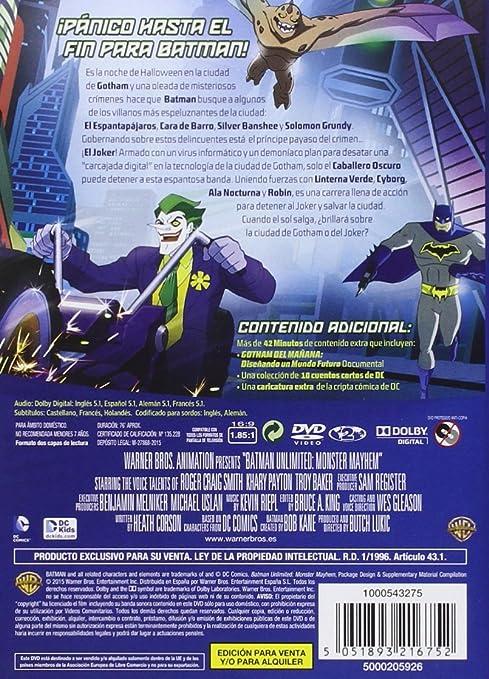 Batman Unlimited: Monstermanía [DVD]: Amazon.es: Troy Baker ...