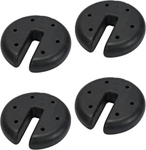 Quik Shade Canopy Weight Plate Kit, Black, 16 x 8 x 8.5 inches