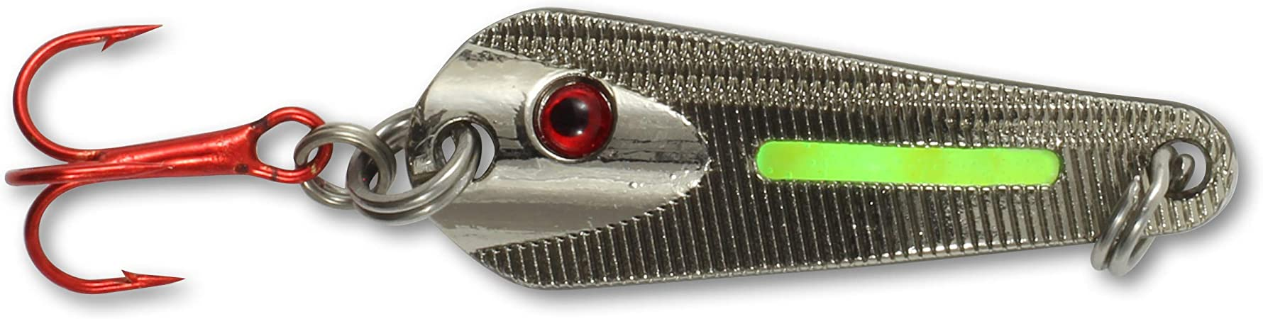 Northland Tackle Glo Shot Spoon Metallic Silver GSS3-11 1//8 oz Ice Fishing